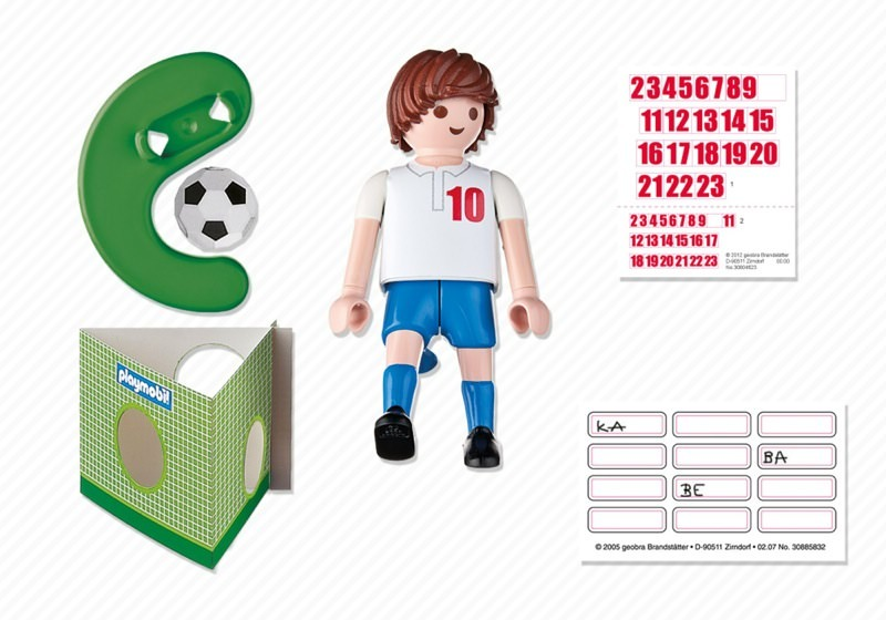Playmobil 4732 - Soccer Player - England - Back