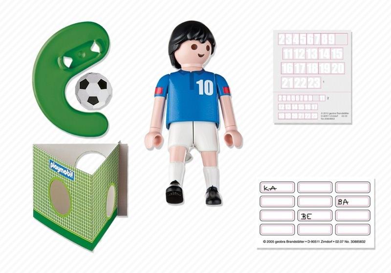 Playmobil 4733 - Soccer Player - France - Back