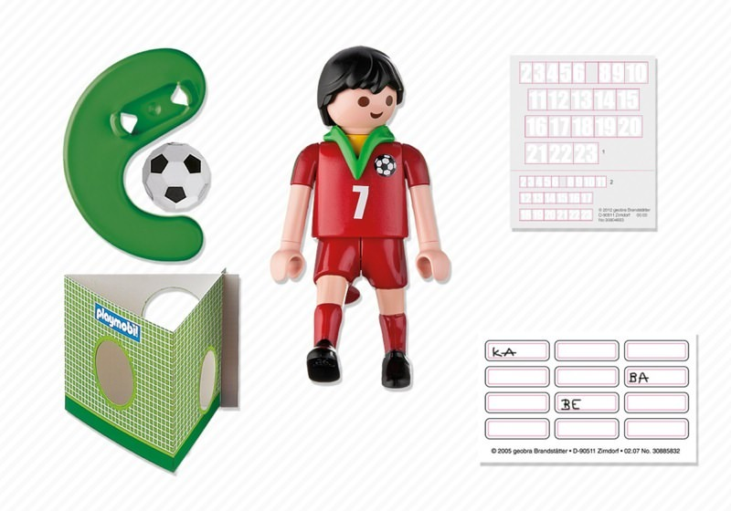 Playmobil 4734 - Soccer Player - Portugal - Back