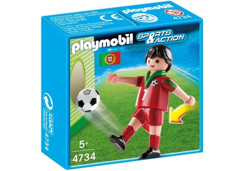 Playmobil 4734 - Soccer Player - Portugal - Box
