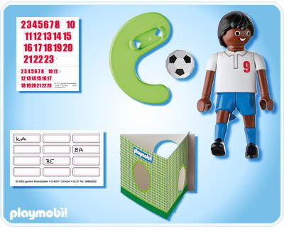 Playmobil 4736 - England Football Player Black (Football) - Back