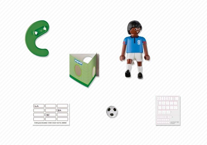 Playmobil 4737 - Football Player, France Black - Back