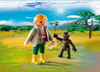 Playmobil - 4757 - Zookeeper with Baby Gorilla