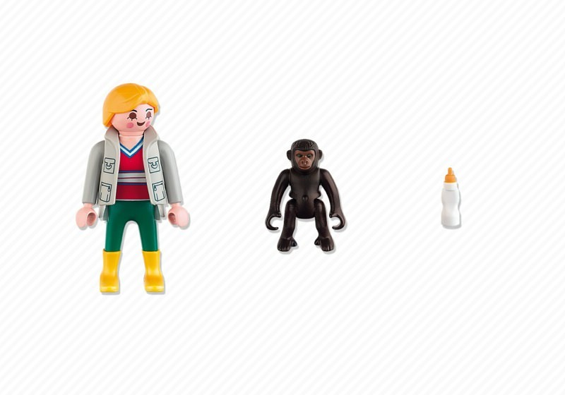 Playmobil 4757 - Zookeeper with Baby Gorilla - Back