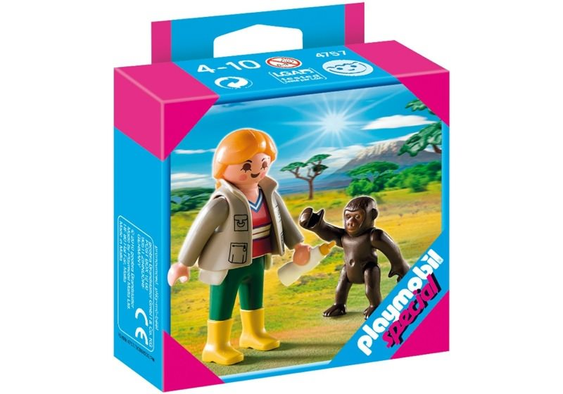 Playmobil 4757 - Zookeeper with Baby Gorilla - Box