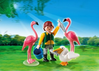 Playmobil - 4758 - Zookeeper with Exotic Birds