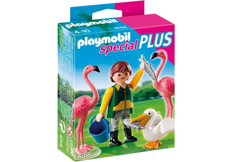 Playmobil 4758 - Zookeeper with Exotic Birds - Box