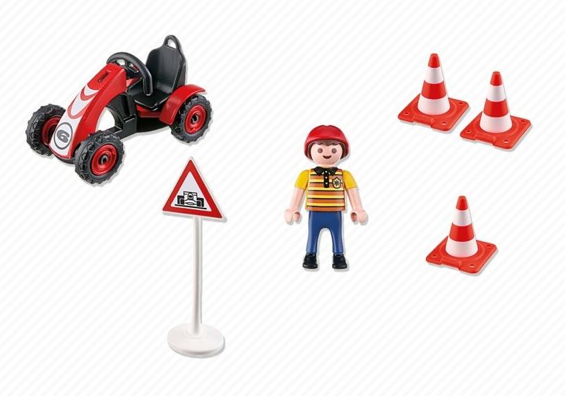 Playmobil 4759 - Boy with Racing Kart - Back