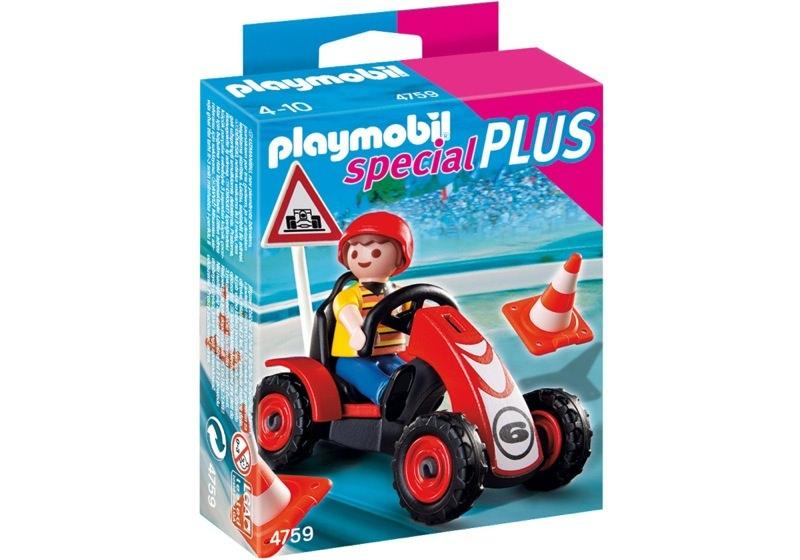 Playmobil 4759 - Boy with Racing Kart - Box