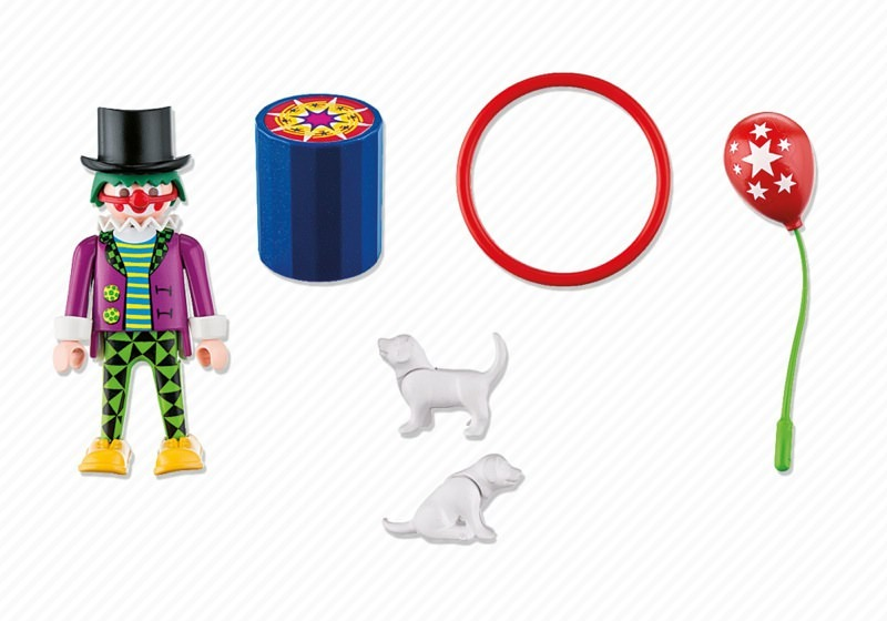 Playmobil 4760 - Clown with Dog Show - Back