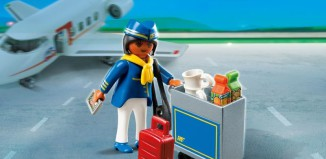 Playmobil - 4761 - Flight Attendant with Service Cart
