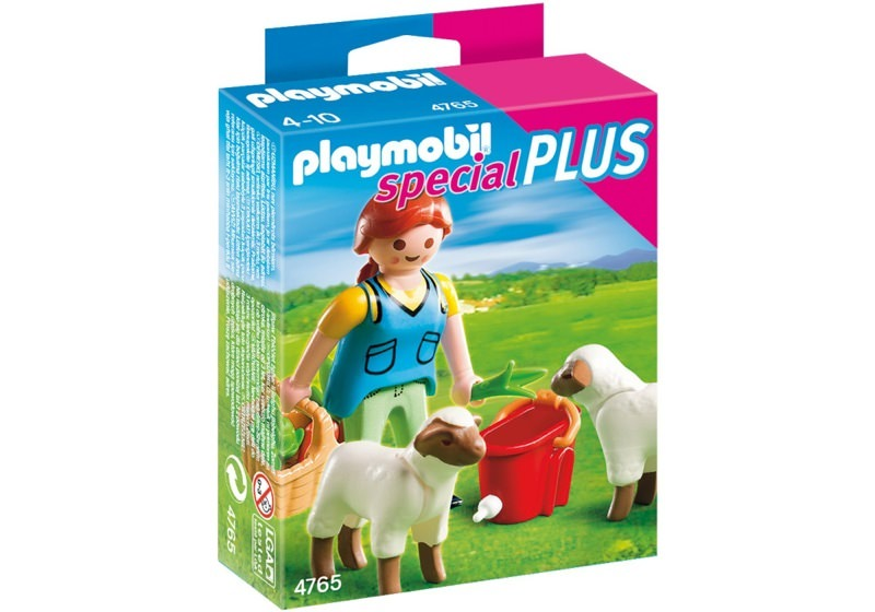 Playmobil 4765 - Country Woman with Sheep Feed - Box