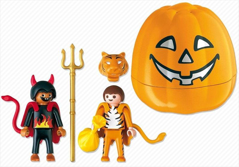 Playmobil 4770 - Halloween Set 'Trick or Treaters' - Back