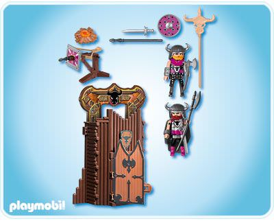 Playmobil 4774 - Barbarian Take Along Fort - Back