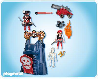 Playmobil 4776v1 - Take along pirates' cliff - Back