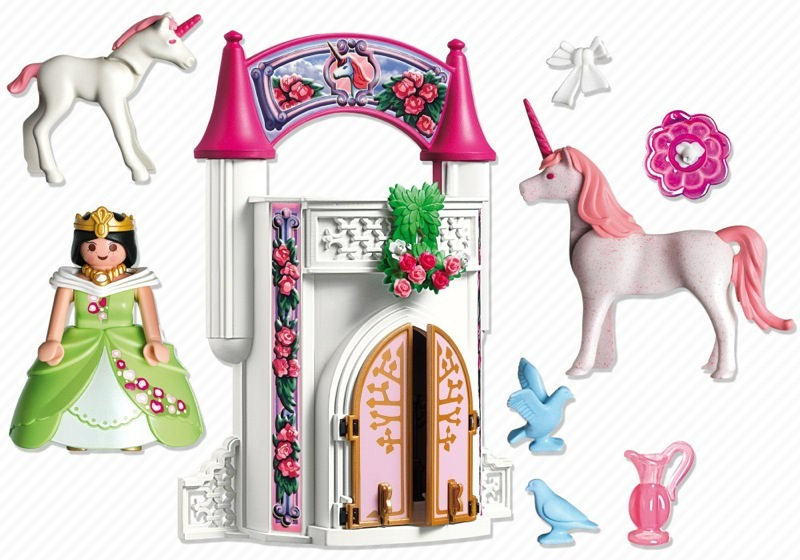 playmobil set 4777 unicorn take along castle klickypedia