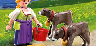 Playmobil - 4778 - Country Woman with Calves