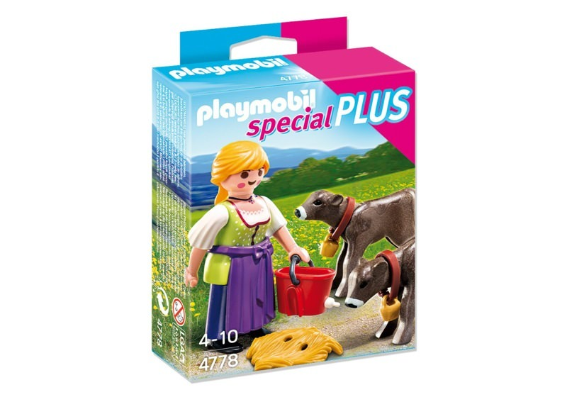 Playmobil 4778 - Country Woman with Calves - Box