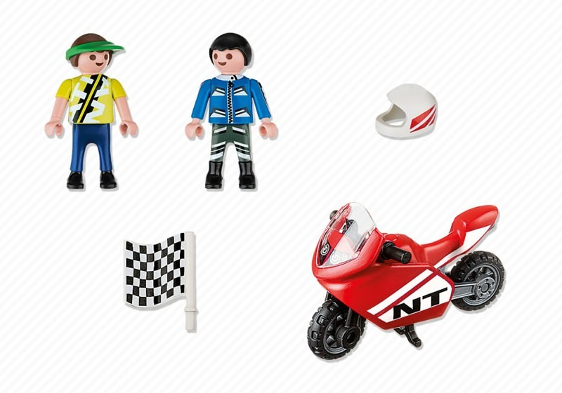Playmobil 4780 - Children with Racingbike - Back