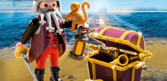 Playmobil - 4783 - pirate with treasure chest