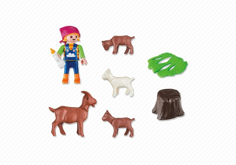 Playmobil 4785 - Girl with goats - Back