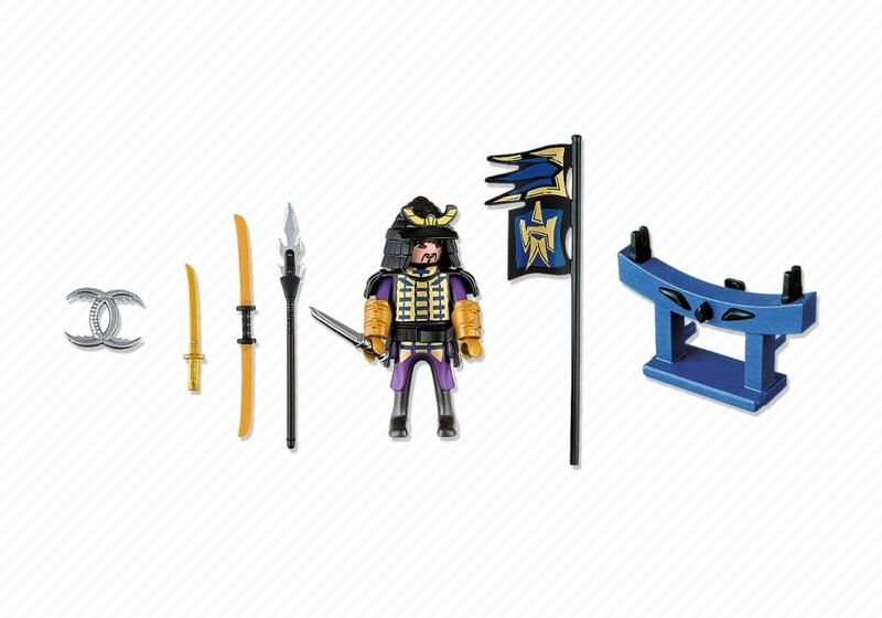 Playmobil 4789 - Samurai with Weapon Stand - Back