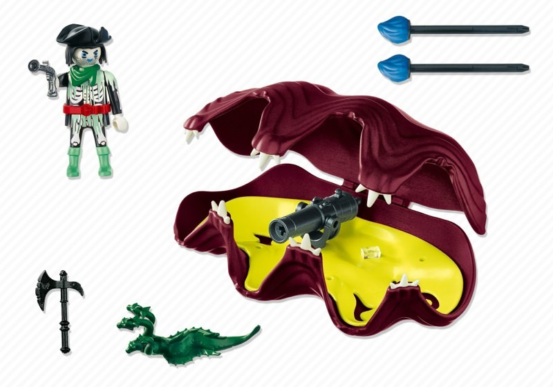 Playmobil 4802 - Shell with Cannon - Back