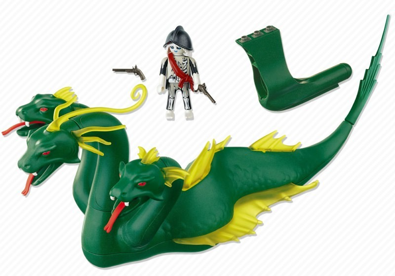 Playmobil 4805 - Three-Headed Sea Serpent - Back