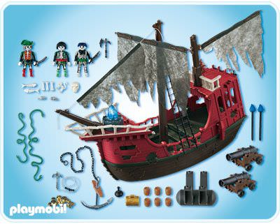 Playmobil 4806 - Ghost Pirate Ship - Back