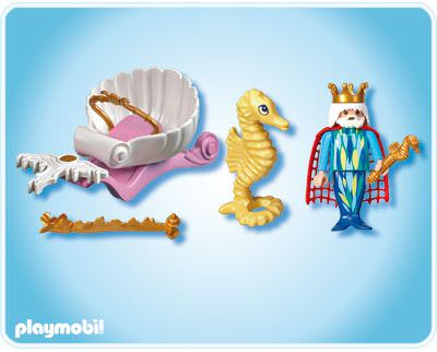 Playmobil 4815 - Ocean King with Seahorse Carriage - Back