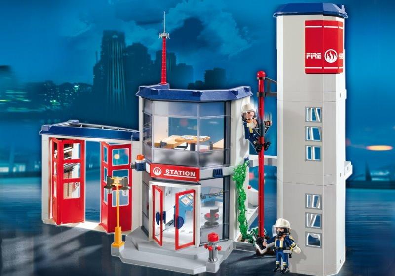 Playmobil set 4819 fire station klickypedia - Caserne de police playmobil ...