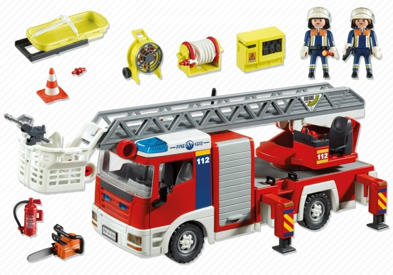 Playmobil 4820 - Ladder Unit - Back