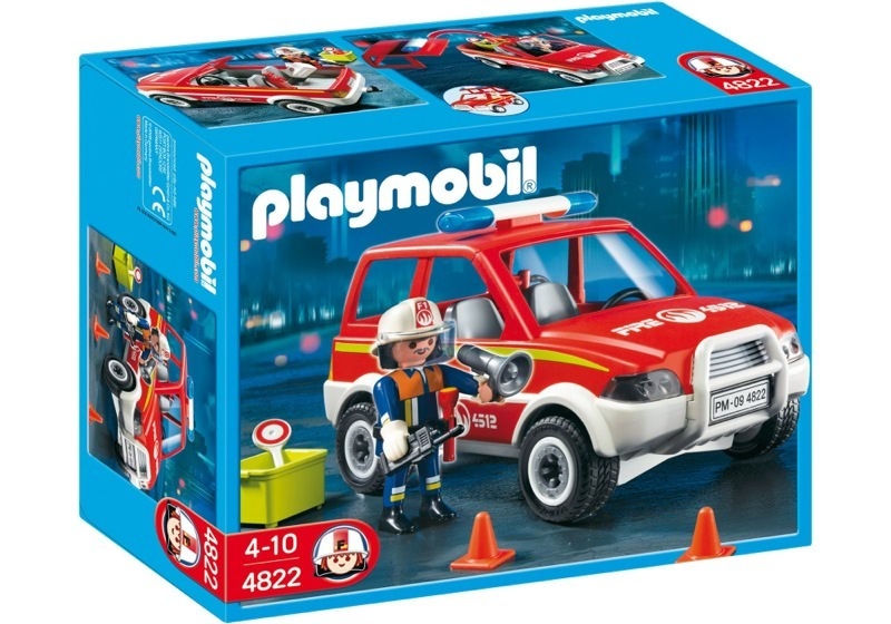 Playmobil 4822 - Fire Chief and Car - Box