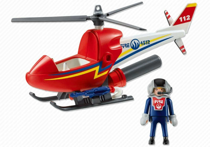 Playmobil 4824 - Fire Fighting Helicopter - Back
