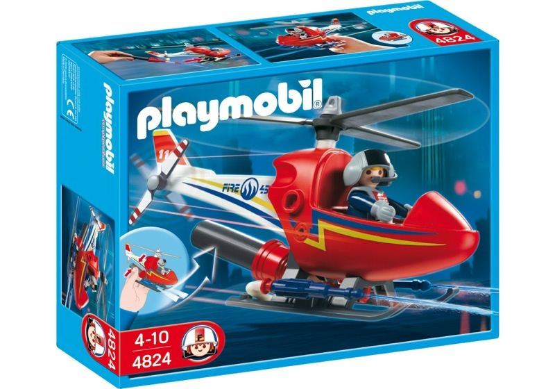 Playmobil 4824 - Fire Fighting Helicopter - Box