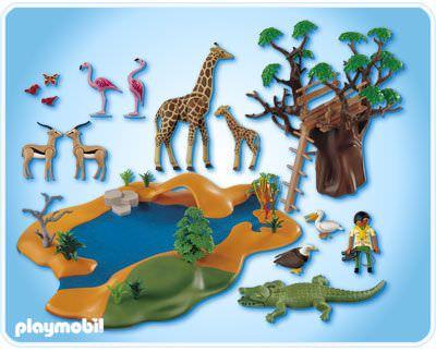 Playmobil 4827 - Wild Life Waterhole - Back