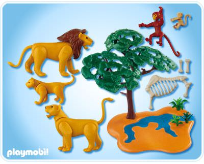 Playmobil 4830 - Lion Pride with Monkeys - Back