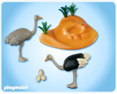 Playmobil 4831 - Ostrich Family with Nest - Back