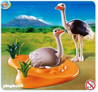 Abenteuer Playmobil 4831 Straussenpaar mit Nest Playmobil