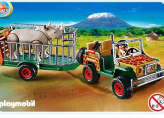 Playmobil - 4832 - Ranger's Vehicle with Rhino