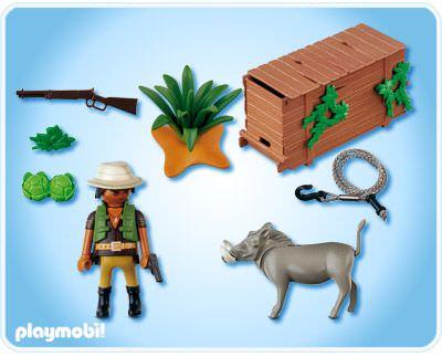 Playmobil 4833 - Ranger with Warthog - Back