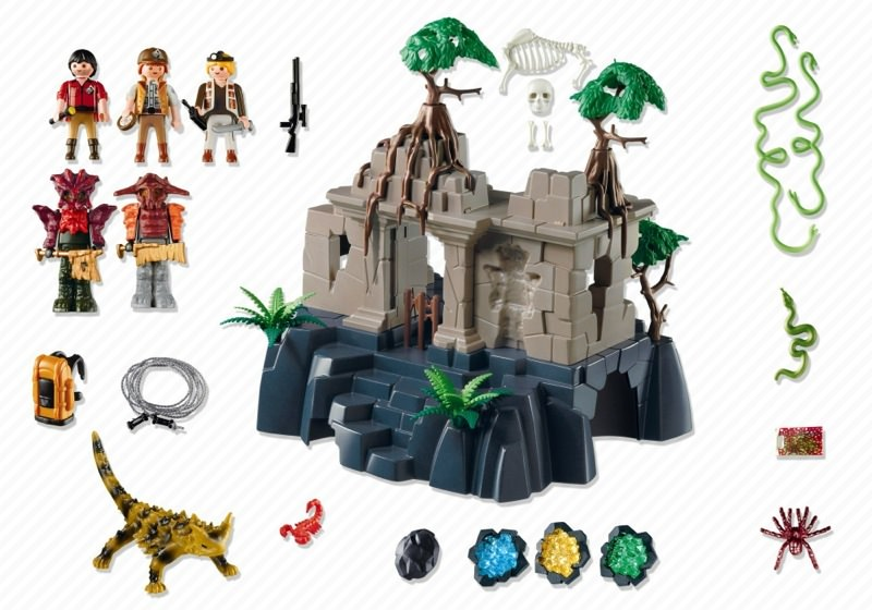 Playmobil 4842 - Treasure Temple with Guards - Back