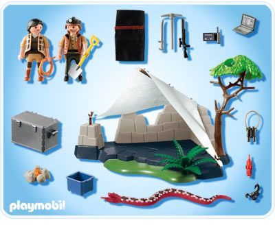 Playmobil 4843 - Treasure Hunter's Camp with Giant Snake - Back