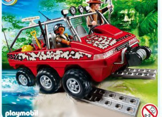 Playmobil - 4844 - Treasure Hunter's Amphibious Truck