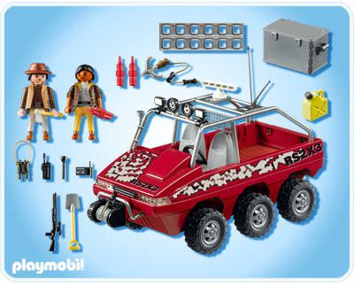 Playmobil 4844 - Treasure Hunter's Amphibious Truck - Back