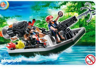 Playmobil - 4845 - Treasure Robber's Boat with Cannon