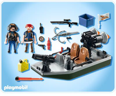 Playmobil 4845 - Treasure Robber's Boat with Cannon - Back