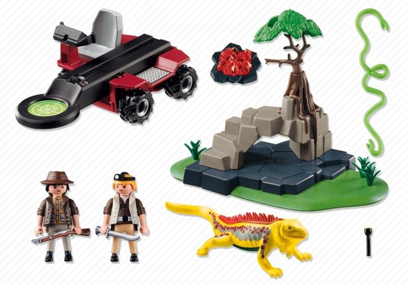 Playmobil 4847 - Treasure Hunter with Metal Detector - Back