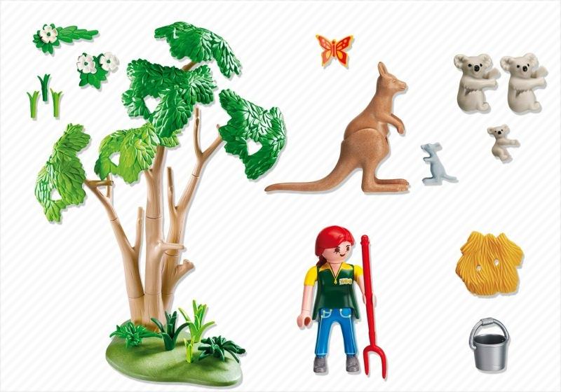 Playmobil 4854 - Koala Bears with Kangaroo - Back