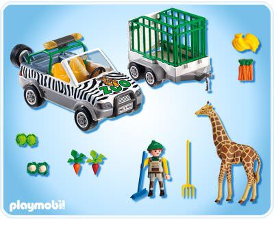 Playmobil 4855 - Zoo Vehicle with Trailer - Back